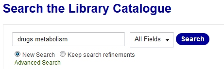 Library catalogue search example (Source: UniSA Library)