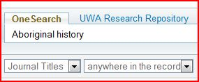 Aboriginal history journal title search
