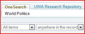 World Politics search