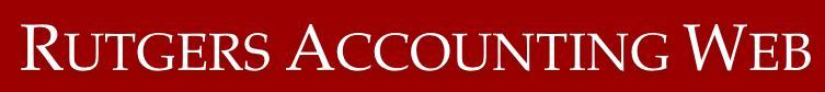 Rutgers Accounting Web