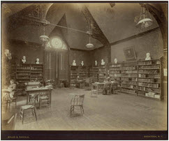 Smith College's first reference library, College Hall
