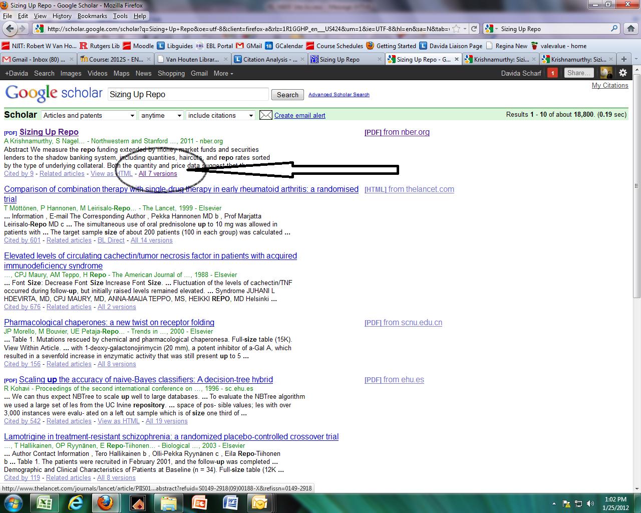 Google Scholar Screen Shot