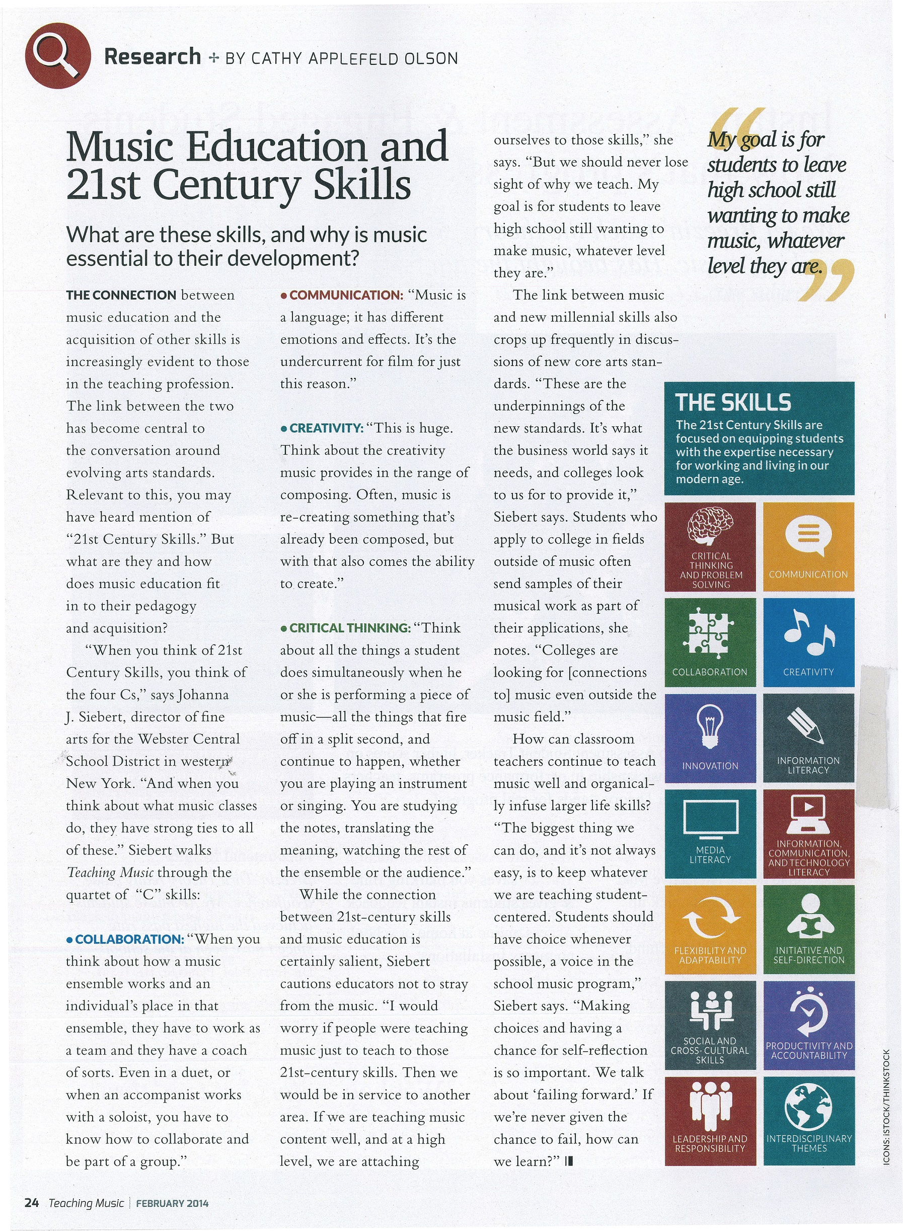 Music Education and 21st Century Skills