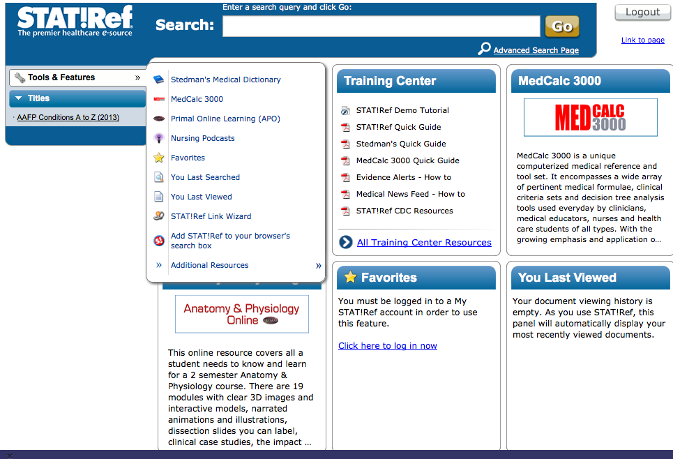 STAT!Ref screenshot
