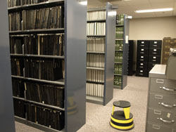 Image of dissertation volumes in our stacks