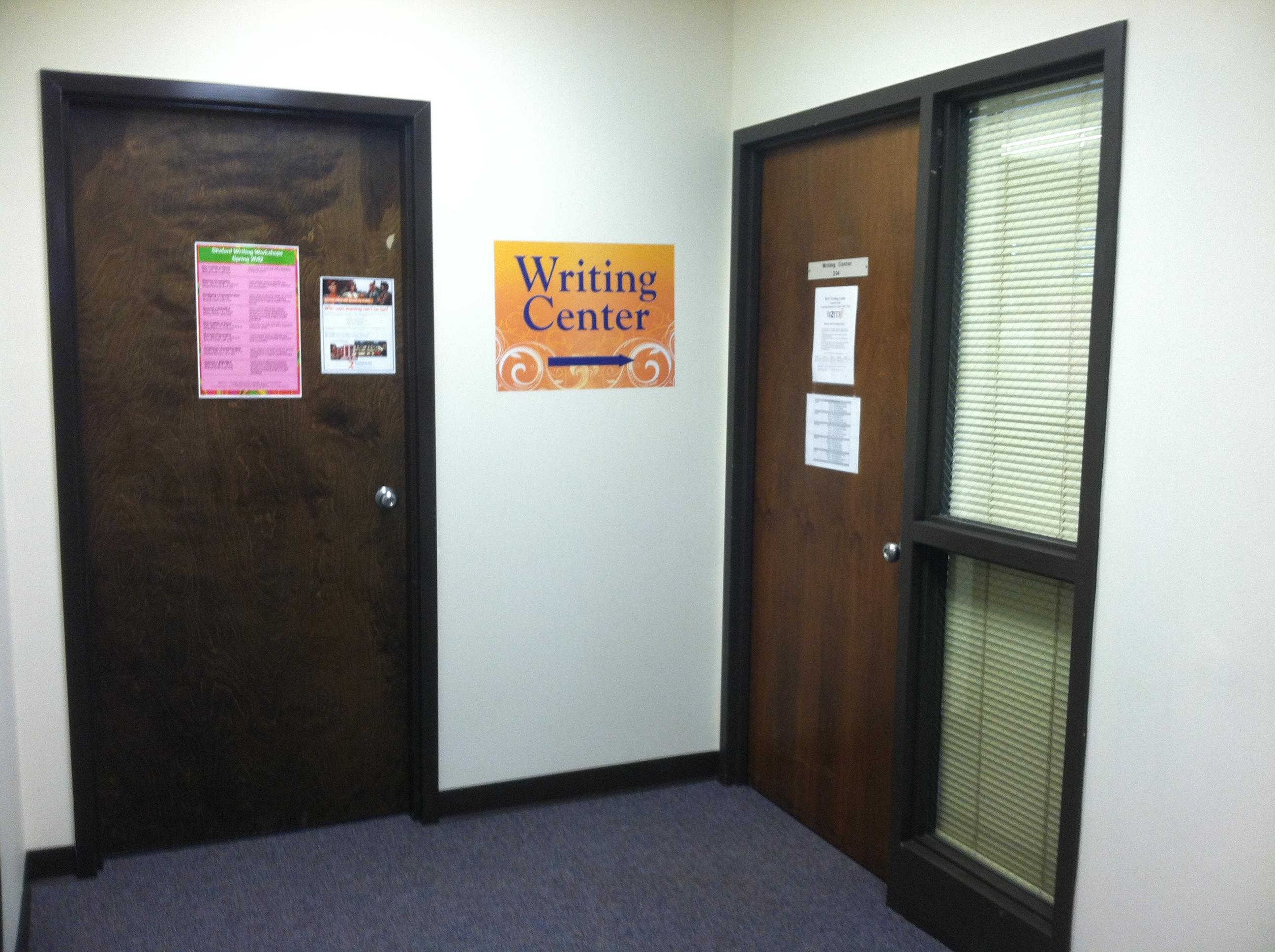 Writing Center entrance