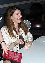 Photograph of Stephenie Meyer, the author of the young adult Twilight series