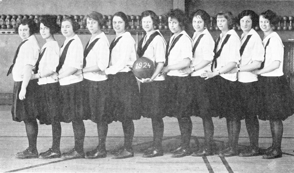 The 1923 women's basketball team at Western Michigan University