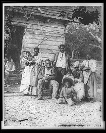 Four generations of a slave family in 1862 in South Carolina