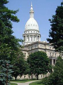 Photograph of the Michigan State Capitol Building in Lansing