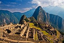 The ancient city of Machu Picchu in Peru