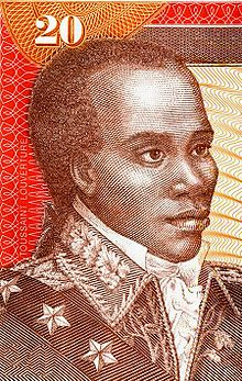 Stamp of  Toussaint Louverture who led a slave revolt in Haiti in 1791