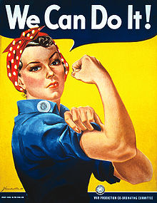 """Image of the iconic 1942 """"Rosie the Riveter"""" poster showing a woman in the Westinghouse work force during World War II"""