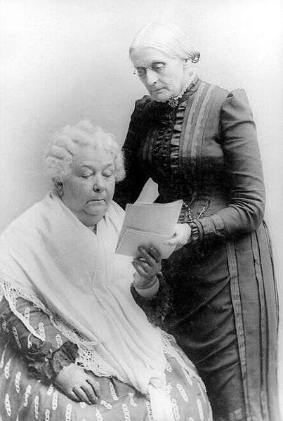 Elizabeth Cady Stanton and Susan B. Anthony in 1900