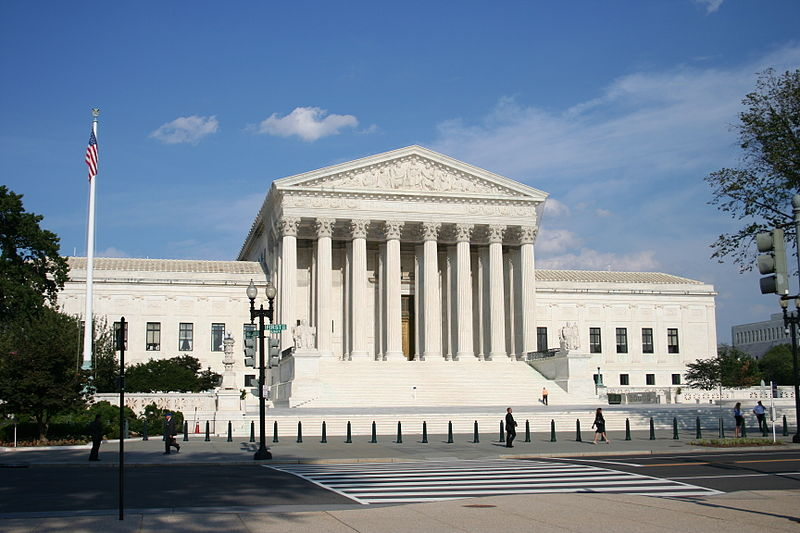 Photograph of the Supreme Court Building in Washington, DC.
