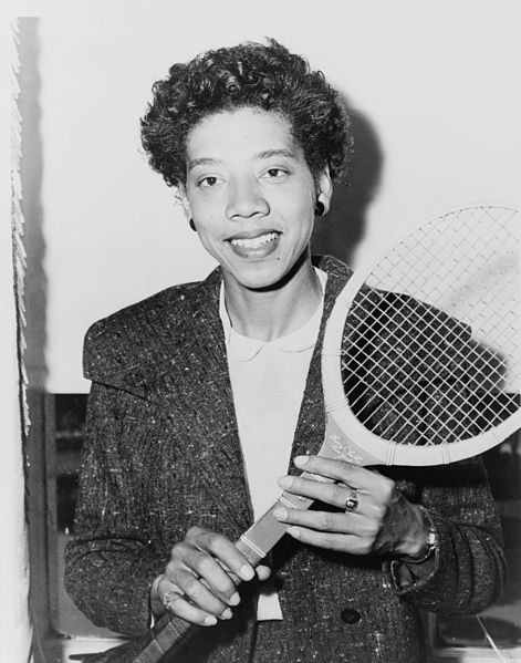 Althea Gibson, a pioneer African American woman in the field of tennis