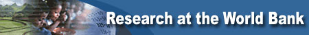 Link to and logo of the Research at the World Bank web site.