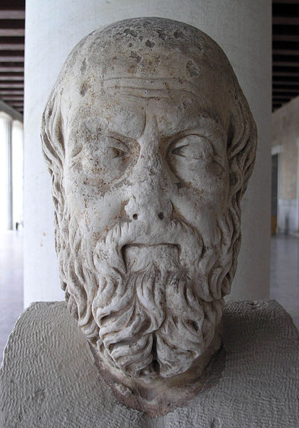Bust of the fifth century BC historian, Herodotus,often called the Father of History.