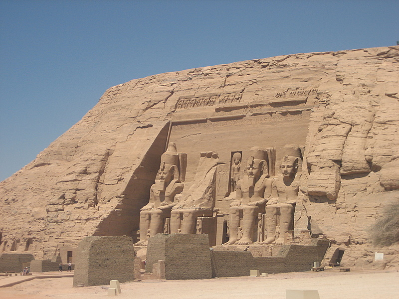 Photograph of Temple of Ramesses II at Abu Simbel, in Egypt