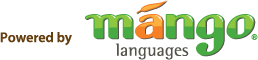Logo of tthe Mango Languages database.