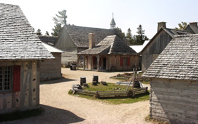 Photograph taken at Fort Michilmackinac in Mackinaw City, Michigan.