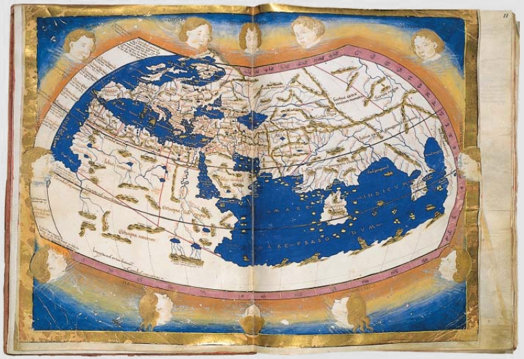 World map from the fifteenth century.