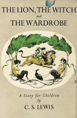 Cover of C. S. Lewis's book The Lion, the Witch and the Wardrobe