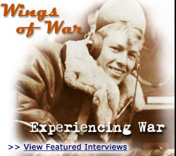 Photograph of airplane pilot from the Wings of War collection of the Veterans History Project