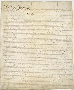 Page one of the Constitution