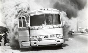Freedom Riders bus firebombed on Mohter's Day