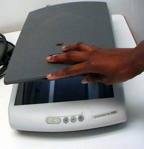 Scanner in use