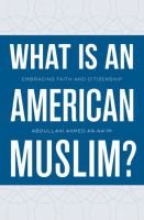 "book jacket ""What is an American Muslim?"""