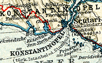 "Snipet from map in Baedecker for ""Kleinasian"""