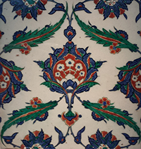 Tile at Sackler Gallery, Washington, DC