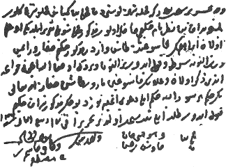 16th Century Ottoman Written Consent Document