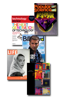 Examples of print magazines