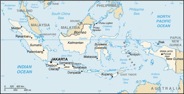 Indonesia in Asia