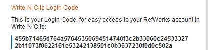 Write-N-Cite Login Code