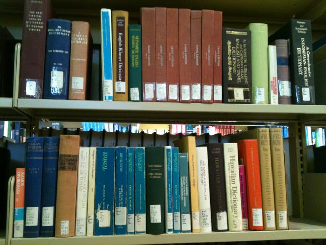 Picture of South Asian Reference Titles Held in Reference Section of the Dafoe Library.
