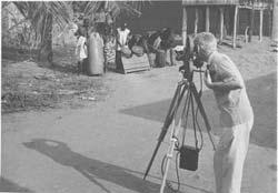 Mantle Hood filming in Ghana