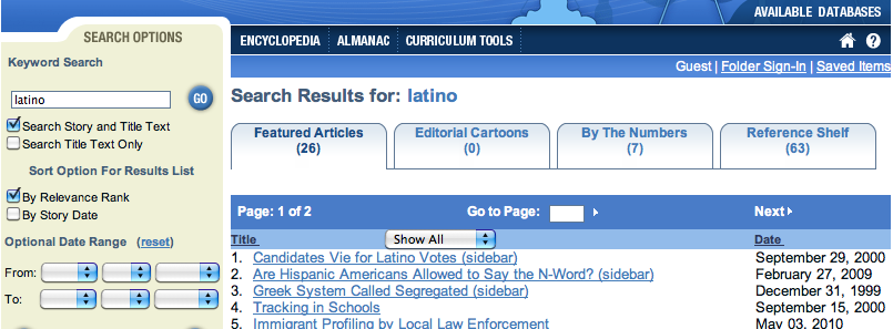 Search results for Latino