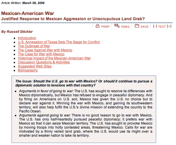 Mexican American War: Justified Response?