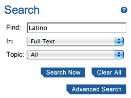 sample search Find: Latino