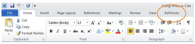 Add-ins in Word