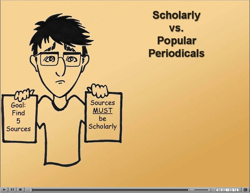 Scholarly Versus Popular