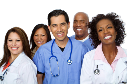 Photo of a group of nurses smiling