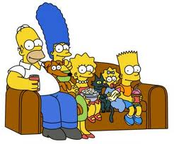 Image of the Simpson cartoon family