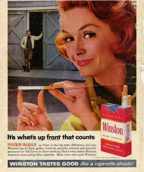 Winston cigarette advertisement
