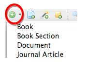 "Screenshot of the ""Add Item"" icon that allows you to add sources manually"