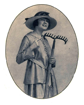 Woman with rake